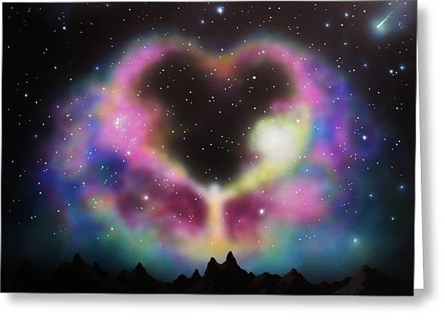 Glow Murals Greeting Cards - Aurora Borealis The Blessing Greeting Card by Thomas Kolendra