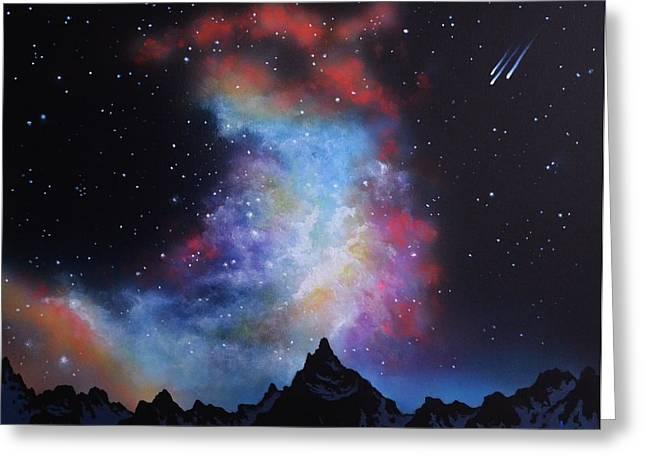 Glow Murals Greeting Cards - Aurora Borealis  Greeting Card by Thomas Kolendra