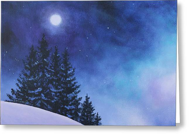 Aurora Borealis Winter Greeting Card by Cecilia  Brendel