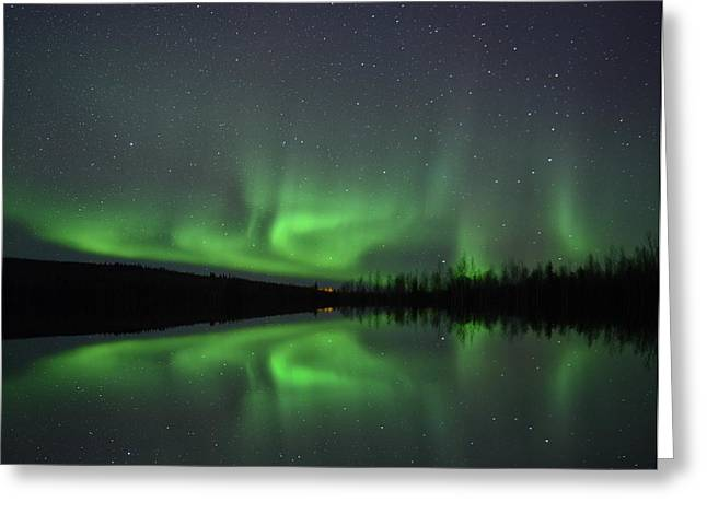 Reflectio Greeting Cards - Aurora Greeting Card by Christian Heeb