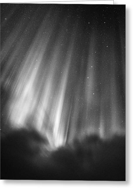 All Rights Reserved Greeting Cards - Aurora Curtains In The Arctic Night Greeting Card by Mike Berenson