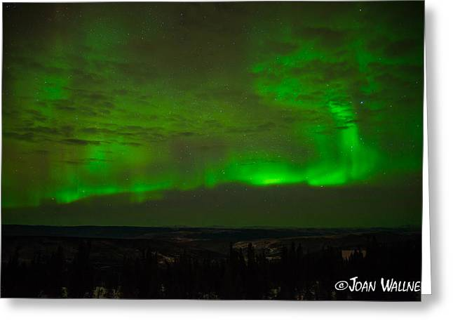 Shades Of Red Greeting Cards - Aurora Flare with clouds Greeting Card by Joan Wallner