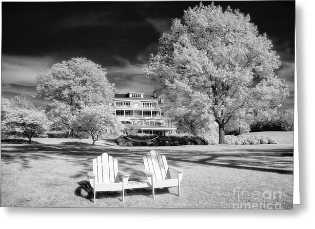 Lawn Chair Greeting Cards - Aurora Inn Greeting Card by Claudia Kuhn