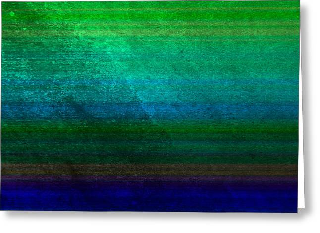 Colorful Digital Art Greeting Cards - Aurora Greeting Card by Peter Tellone