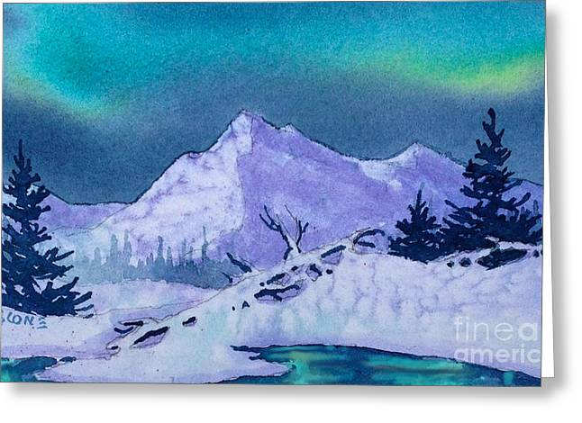 Panoramic Ocean Greeting Cards - Aurora Reflection Greeting Card by Teresa Ascone