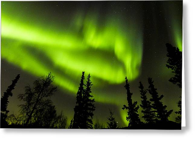 Space Photographs Greeting Cards - Aurora Wave Greeting Card by Kyle Lavey