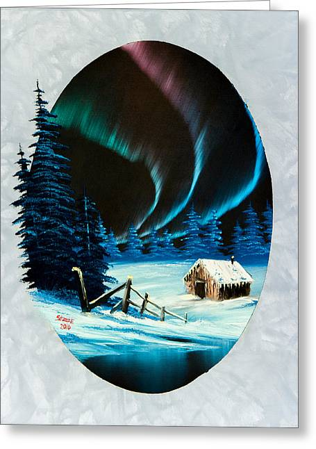 Bob Ross Paintings Greeting Cards - Auroras Beauty Greeting Card by C Steele