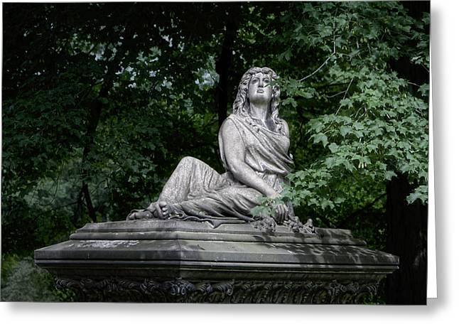 Weeping Photographs Greeting Cards - Aurther Haserot Monument Greeting Card by Tom Mc Nemar