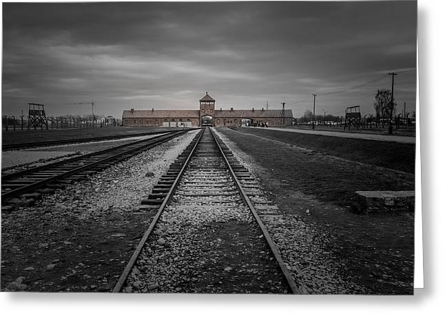 Concentration Greeting Cards - Auschwitz-Birkenau Greeting Card by Chris Fletcher