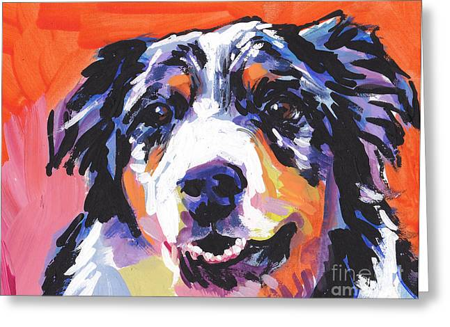 Puppies Greeting Cards - Aussie Luv Greeting Card by Lea