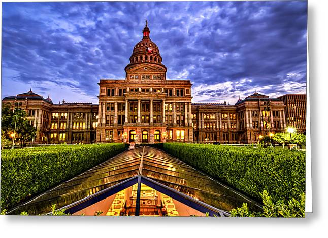Capitol Greeting Cards - Austin Capitol at Sunset Greeting Card by John Maffei