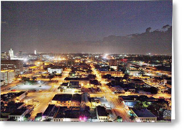 Austin At Night Greeting Cards - Austin City Lights Greeting Card by Jay D Anderson