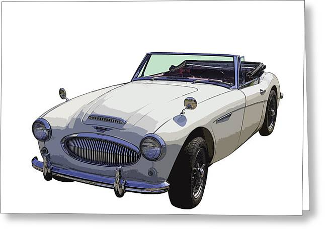 Spokes Greeting Cards - Austin Healey 300 Classic Convertible Sportscar  Greeting Card by Keith Webber Jr