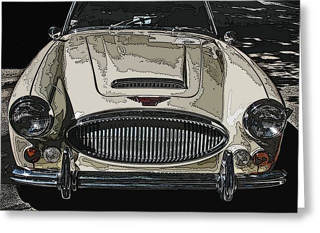 Samuel Sheats Greeting Cards - Austin Healey 3000 MK Ill Greeting Card by Samuel Sheats