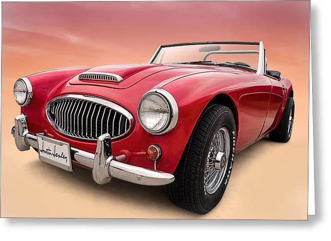 Roadsters Greeting Cards - Austin Healey Greeting Card by Douglas Pittman