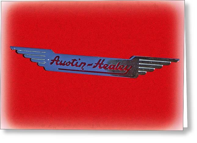 Larry Bishop Photography Greeting Cards - Austin-Healey Greeting Card by Larry Bishop