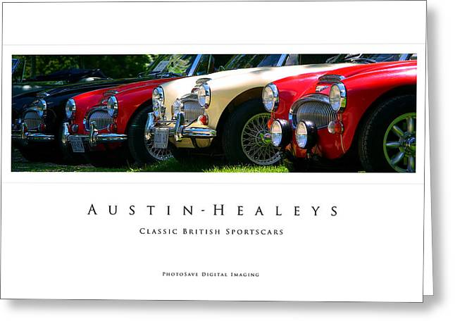 Paul Wash Greeting Cards - Austin-Healeys Greeting Card by Paul Wash