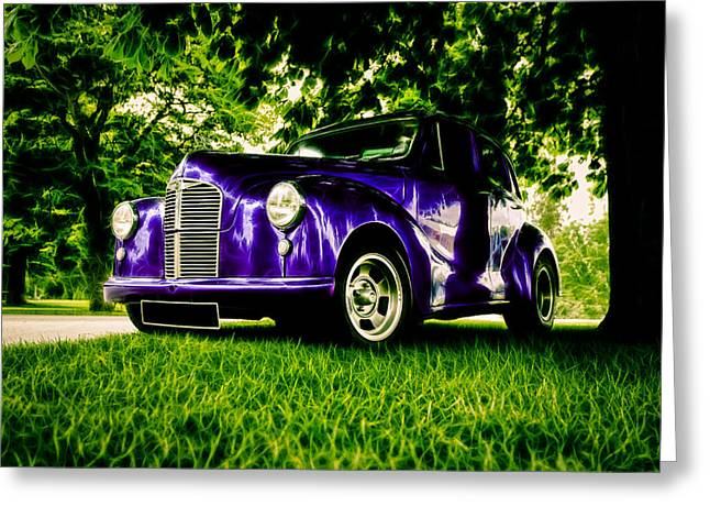 Aotearoa Greeting Cards - Austin Hot Rod Greeting Card by motography aka Phil Clark