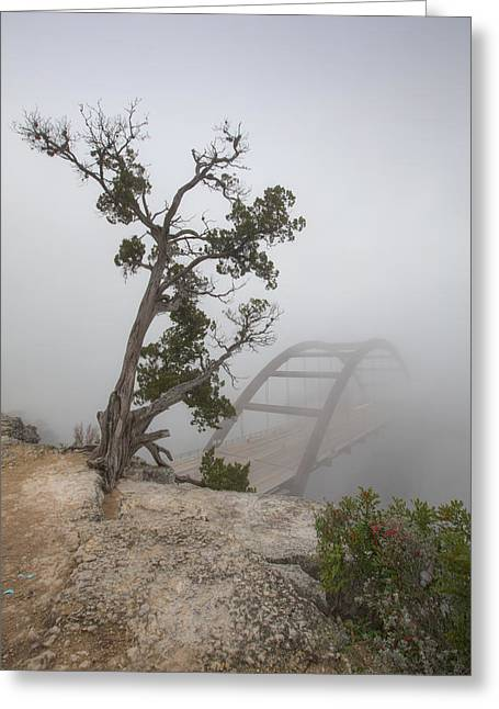 Austin 360 Greeting Cards - Austin Images - Pennybacker Bridge in Morning Fog 5 Greeting Card by Rob Greebon