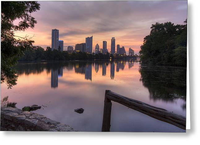 Austin Tx Greeting Cards - Austin Images - the Austin Skyline from Lou Neff Point 3 Greeting Card by Rob Greebon