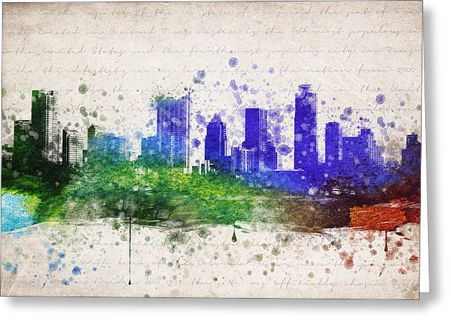 Austin Texas Greeting Cards - Austin in Color Greeting Card by Aged Pixel