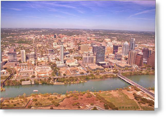 Ut Tower Greeting Cards - Austin Lady Bird Lake Greeting Card by Andrew Nourse