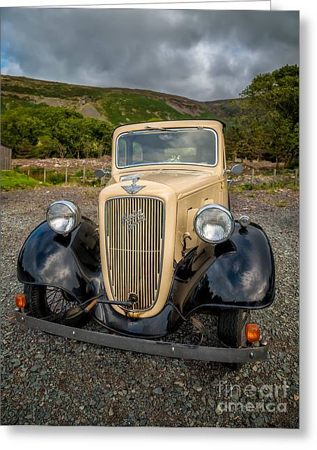 Spokes Greeting Cards - Austin Seven Greeting Card by Adrian Evans