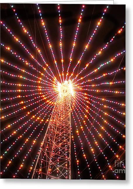 Christmas Abstract Greeting Cards - Austin Texas Trail of Lights  Greeting Card by Svetlana Novikova