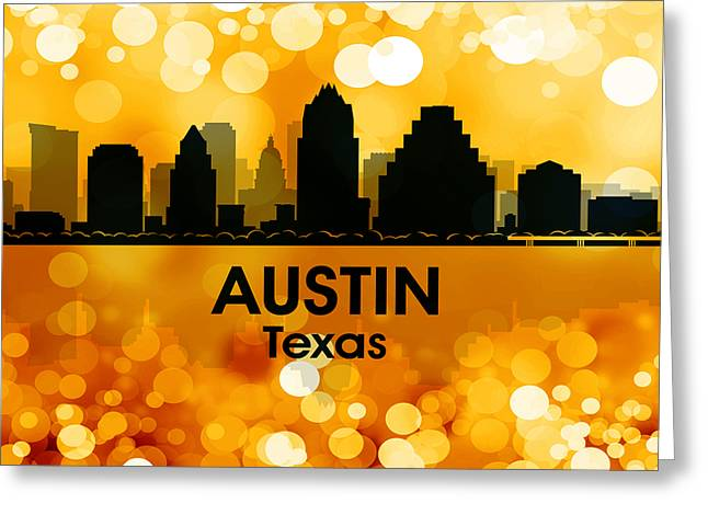 Concrete Jungle Mixed Media Greeting Cards - Austin TX 3 Greeting Card by Angelina Vick