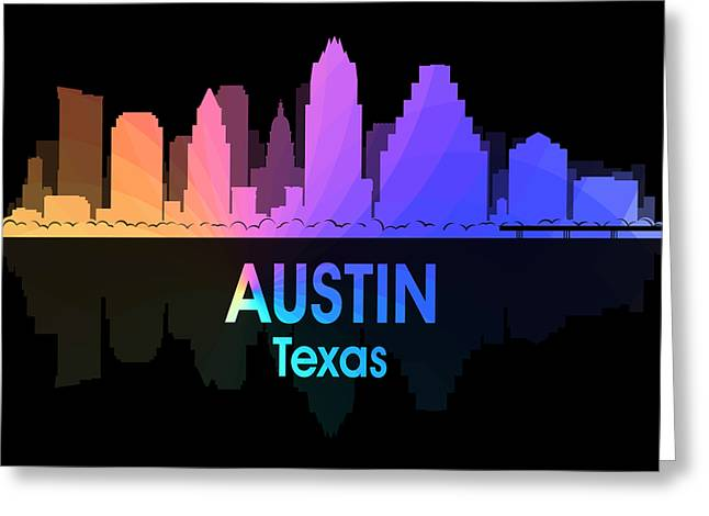 Industrial Icon Greeting Cards - Austin TX 5 Squared Greeting Card by Angelina Vick