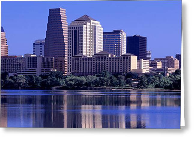 Corporate Business Greeting Cards - Austin Tx Usa Greeting Card by Panoramic Images