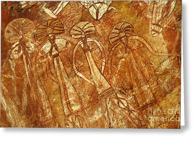 Pictograph Greeting Cards - Australia Ancient Aboriginal Art 3 Greeting Card by Bob Christopher