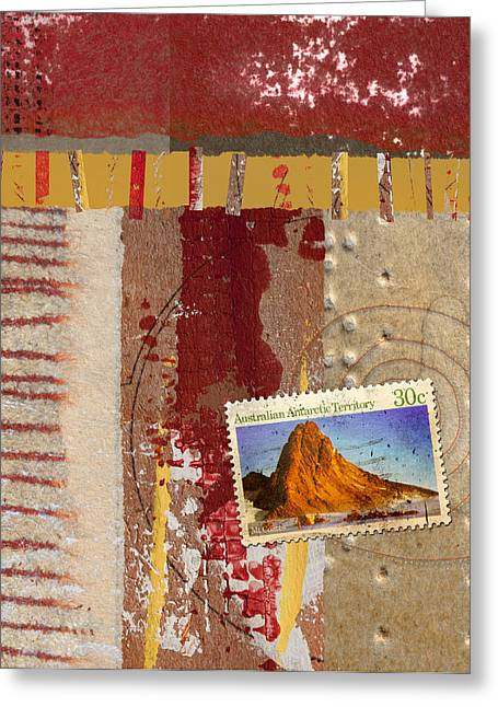 Philately Mixed Media Greeting Cards - Australia Antarctic Territory Greeting Card by Carol Leigh