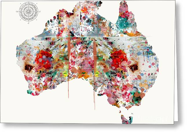 Australia Mixed Media Greeting Cards - Australia Greeting Card by Bri Buckley