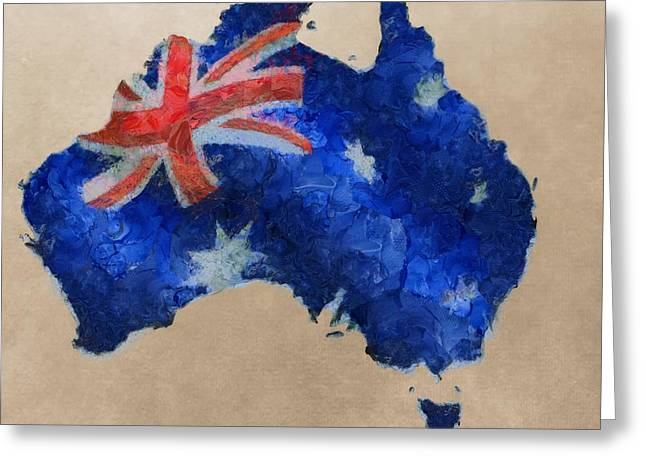 Aborigine Greeting Cards - Australia Greeting Card by Dan Sproul