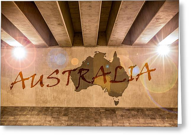 Industrial Concept Greeting Cards - Australia Map Greeting Card by Semmick Photo