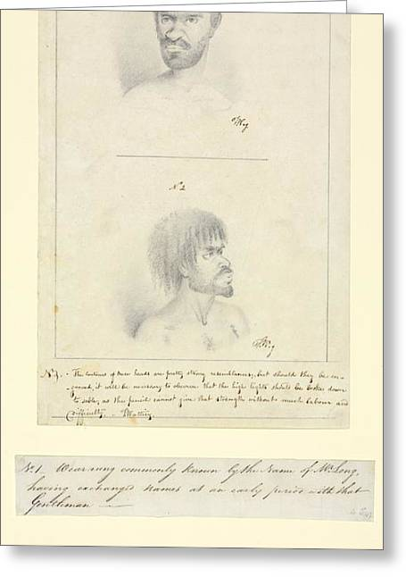Captions Greeting Cards - Australian Aborigines, 18th Century Greeting Card by Natural History Museum, London