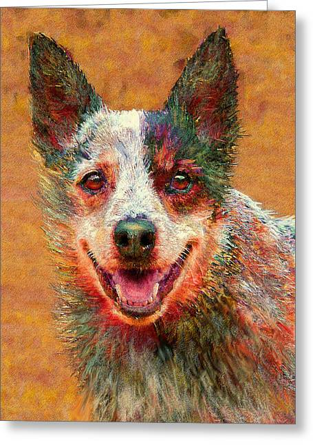 Australian Cattle Dog Greeting Card by Jane Schnetlage