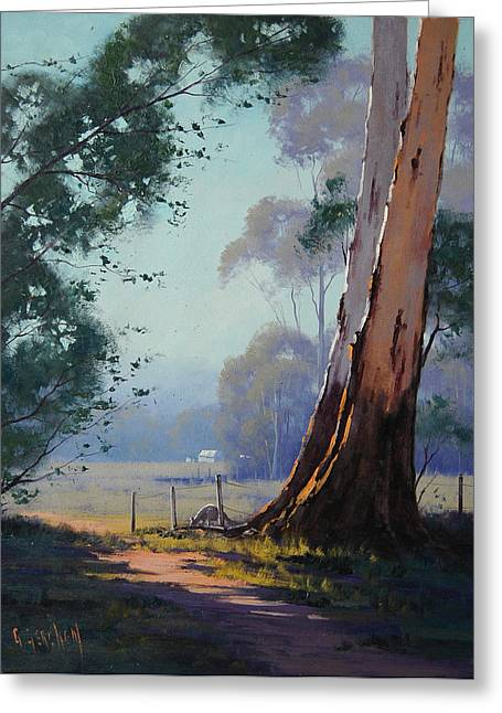 Shed Paintings Greeting Cards - Australian Farm Painting Greeting Card by Graham Gercken