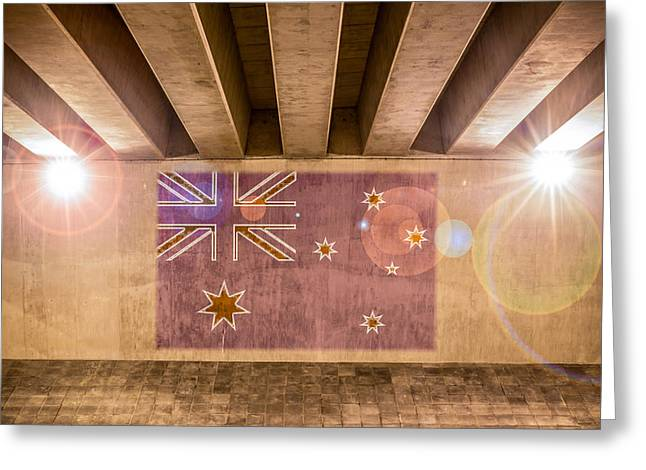 Industrial Concept Greeting Cards - Australian Flag Greeting Card by Semmick Photo