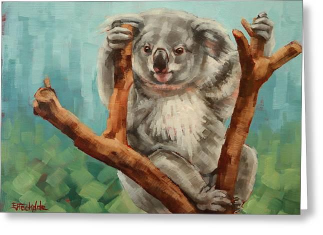 Margaret Stockdale Greeting Cards - Australian Koala Greeting Card by Margaret Stockdale