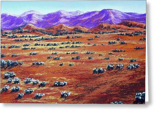 Outback Pastels Greeting Cards - Australian Outback Greeting Card by David Clode
