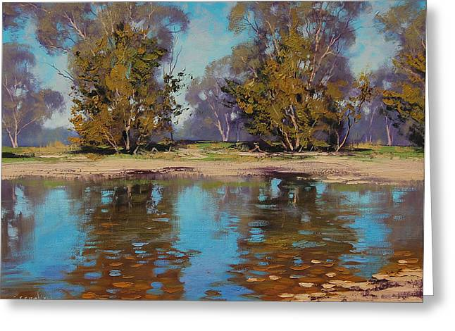 Beautiful Creek Paintings Greeting Cards - Australian River Greeting Card by Graham Gercken