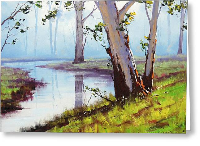 Beautiful Creek Paintings Greeting Cards - Australian Trees Painting Greeting Card by Graham Gercken