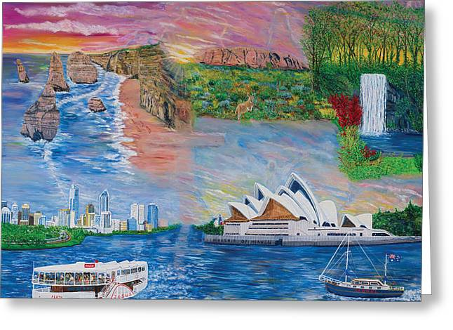 Adonai Greeting Cards - Australian visitation Greeting Card by Mike De Lorenzo