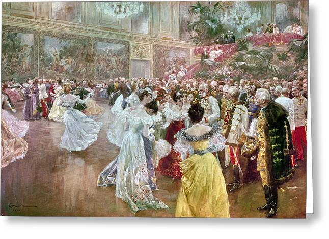 Ball Gown Greeting Cards - Austria: Court Ball, 1900 Greeting Card by Granger