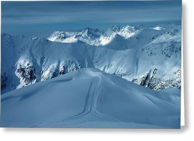 Framedprint Greeting Cards - Austria Mountain Ischgl Greeting Card by Colette V Hera  Guggenheim