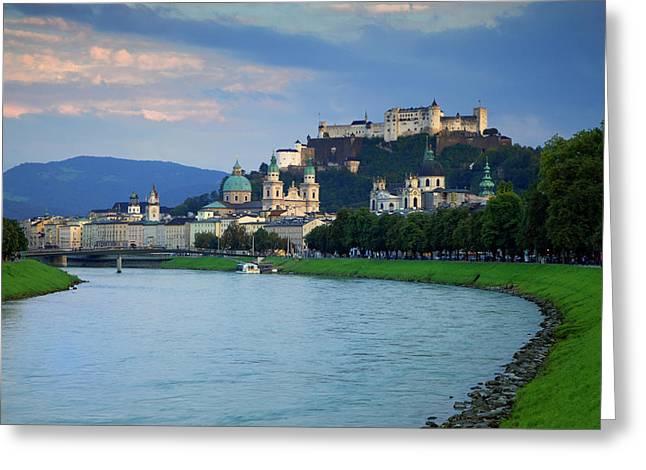 Austria, Salzburg Greeting Card by Jaynes Gallery