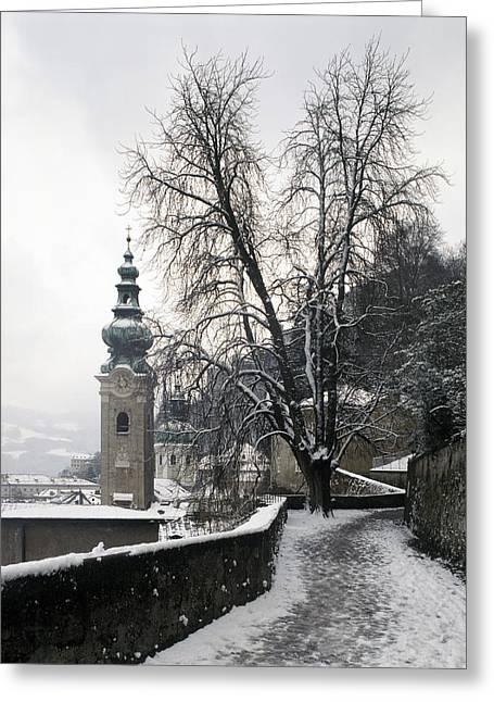 Austria, Salzburg, Petersfriedhof Greeting Card by Tips Images