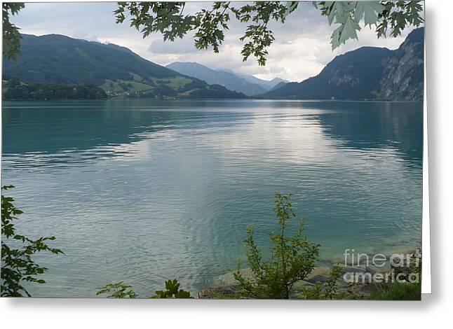 Calm Waters Greeting Cards - Austrian Lake Greeting Card by Carol Groenen